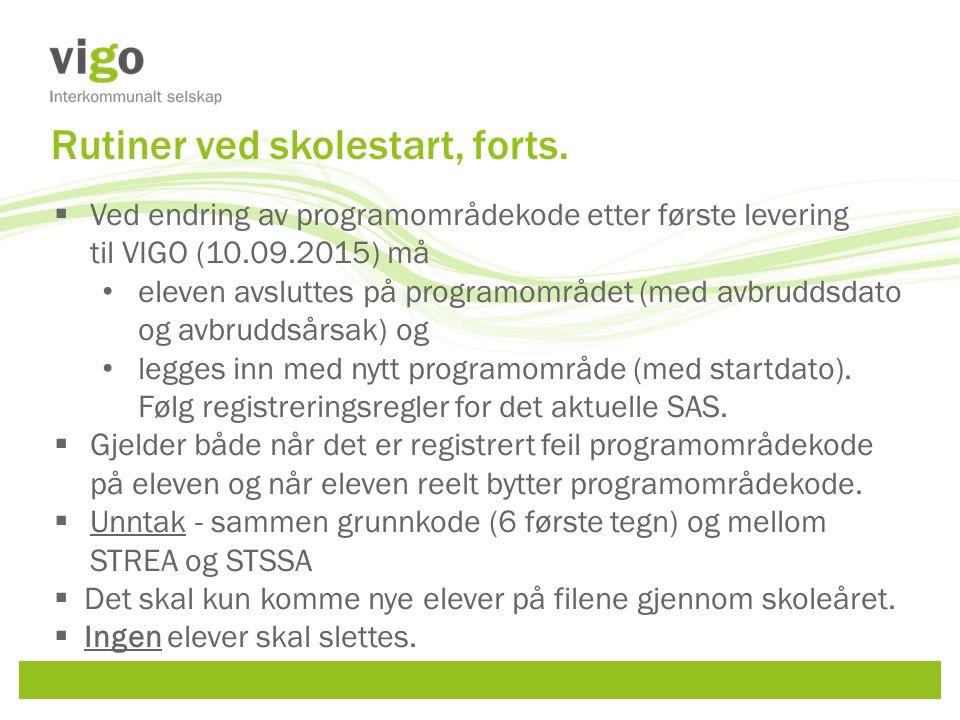  Faget (eks FSP-fag/PSP-fag eller spesielle programfag) skal rapporteres til Vigo fra den skolene eleven tar faget på.