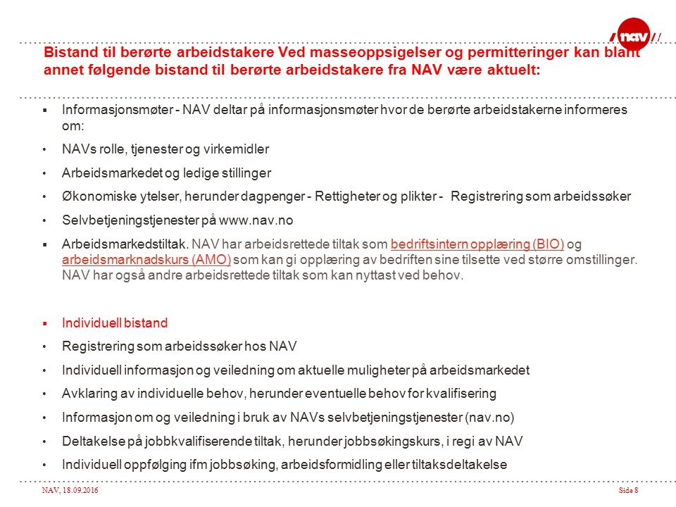 NAV, 18.09.2016Side 9 Søke dagpenger på nav.no
