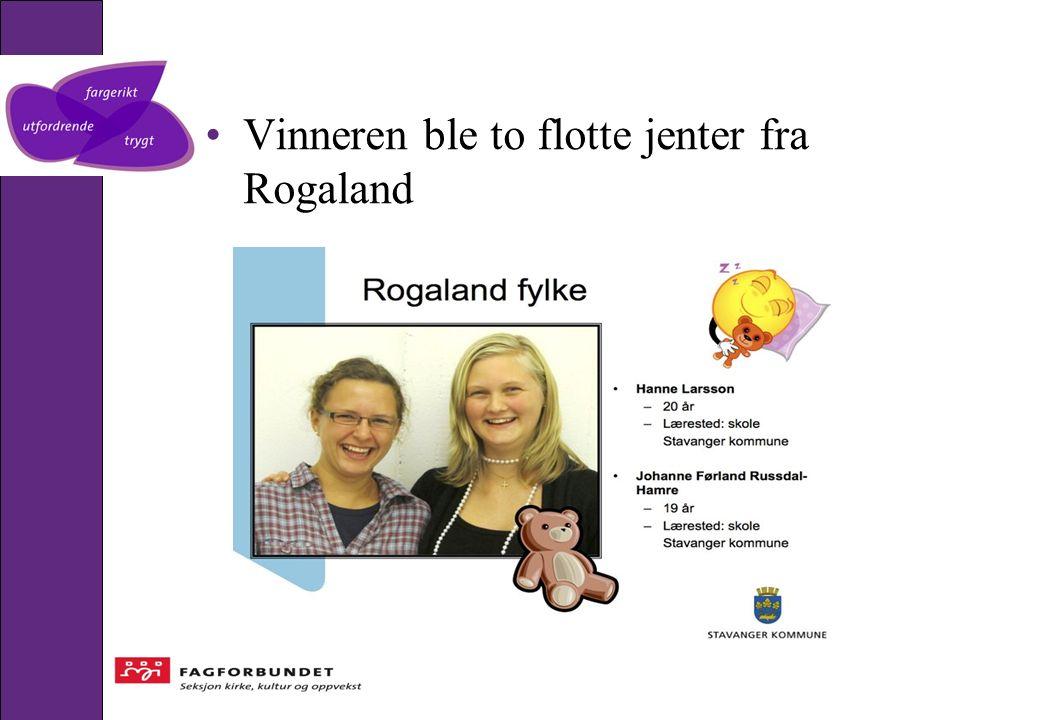 Vinneren ble to flotte jenter fra Rogaland