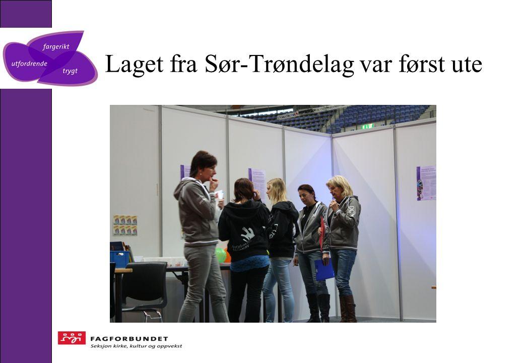 Laget fra Sør-Trøndelag var først ute