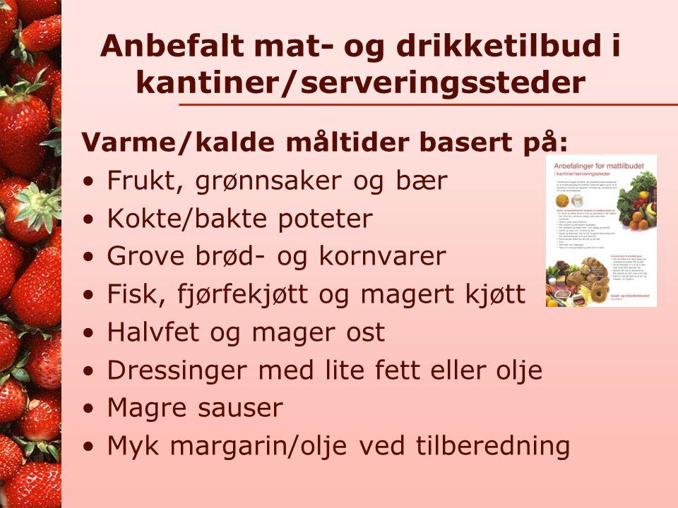 Storhusholdninger påvirker matvalg og har stort ansvar http://www.helsedirektoratet.no/ernaering/ servering