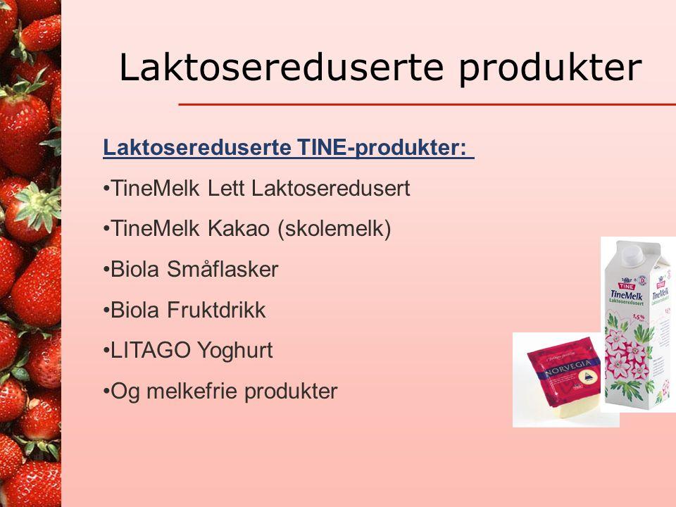 Laktoseintoleranse Toleranse for mengde laktose er individuell For mye gir ubehag Det er mye laktose i melkemat : melk, rømme, fløte, yoghurt, is, pannekaker, vafler, grøt, brunost osv.
