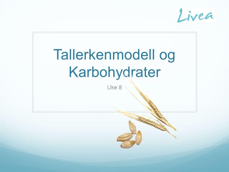 Tallerkenmodell og Karbohydrater Uke 8