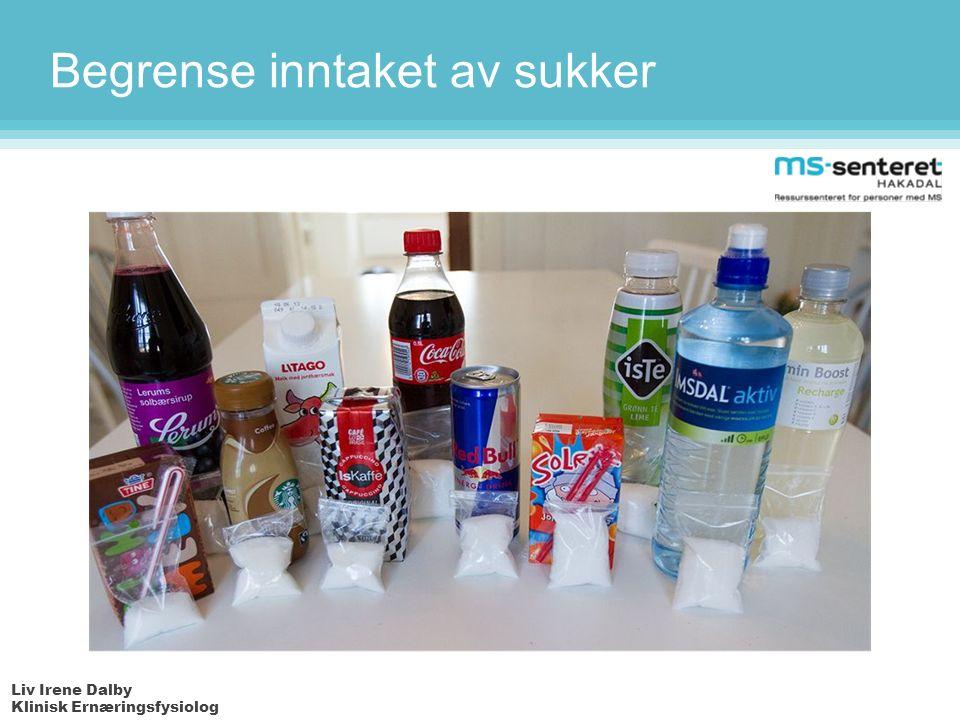 Liv Irene Dalby Klinisk Ernæringsfysiolog Begrense inntaket av sukker