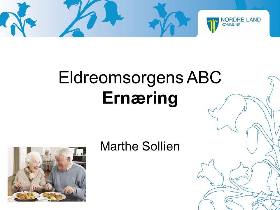 Eldreomsorgens ABC Ernæring Marthe Sollien