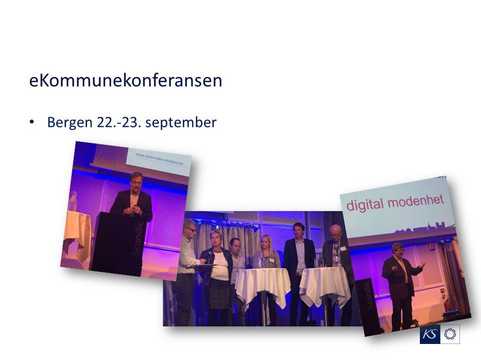 eKommunekonferansen Bergen 22.-23. september