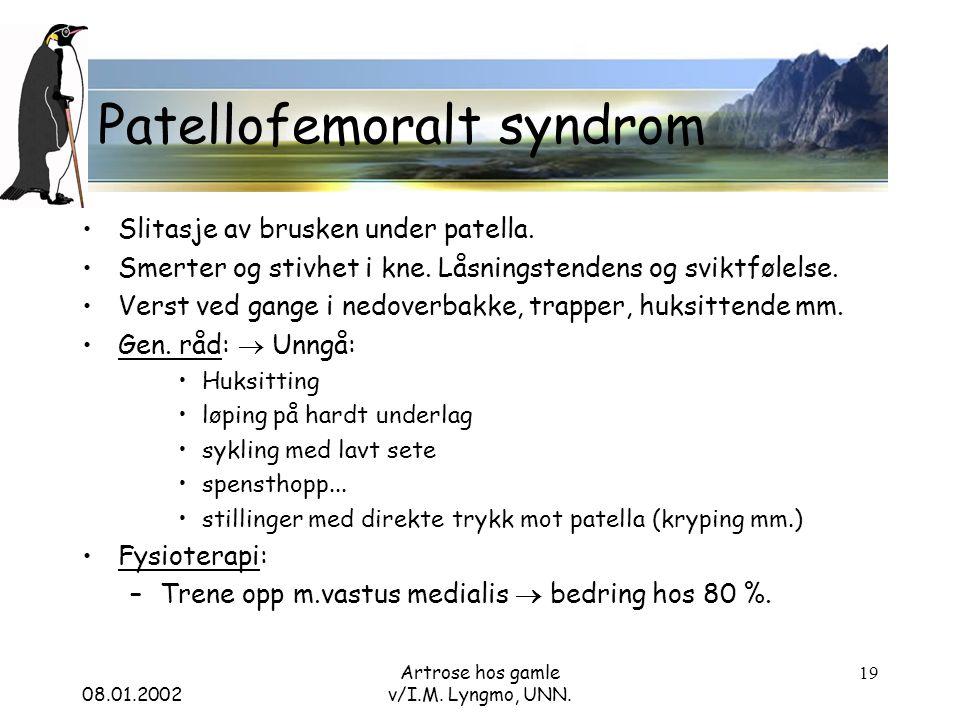 08.01.2002 Artrose hos gamle v/I.M. Lyngmo, UNN.