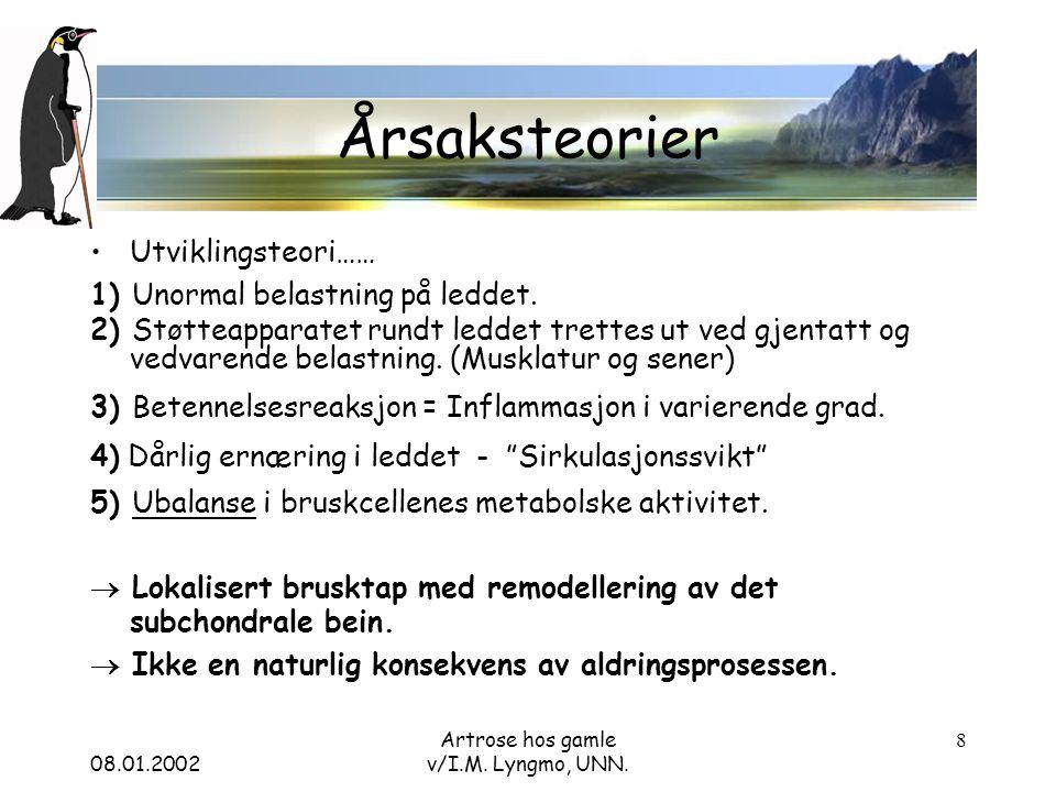 08.01.2002 Artrose hos gamle v/I.M.Lyngmo, UNN.
