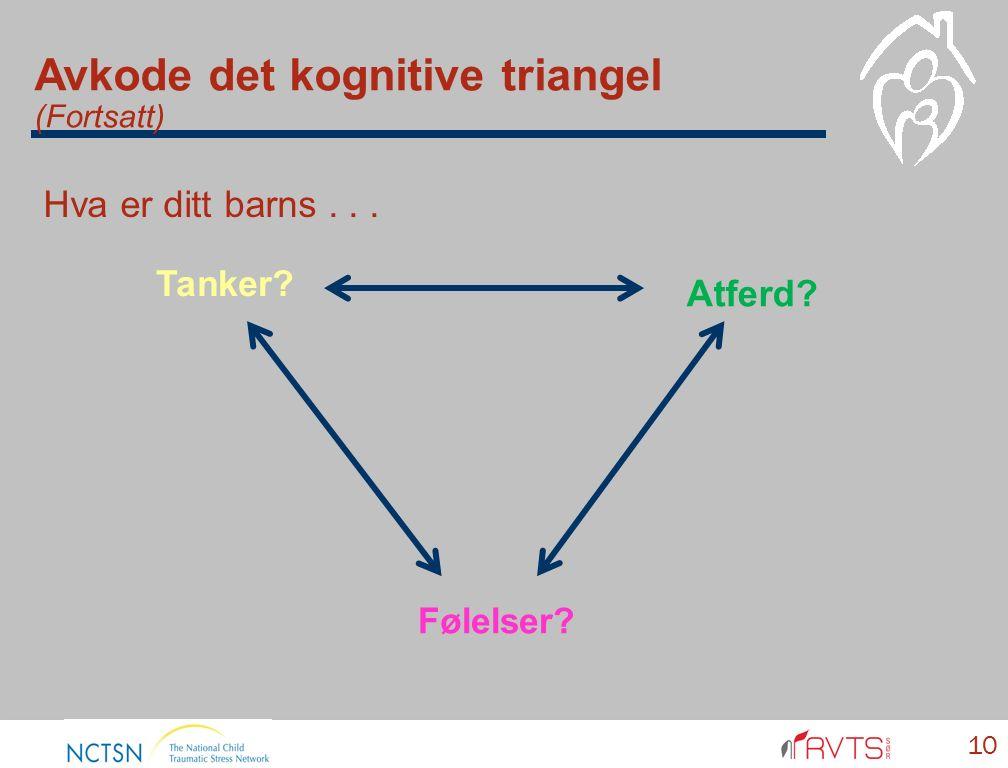 10 Tanker Følelser Atferd Avkode det kognitive triangel (Fortsatt) Hva er ditt barns...