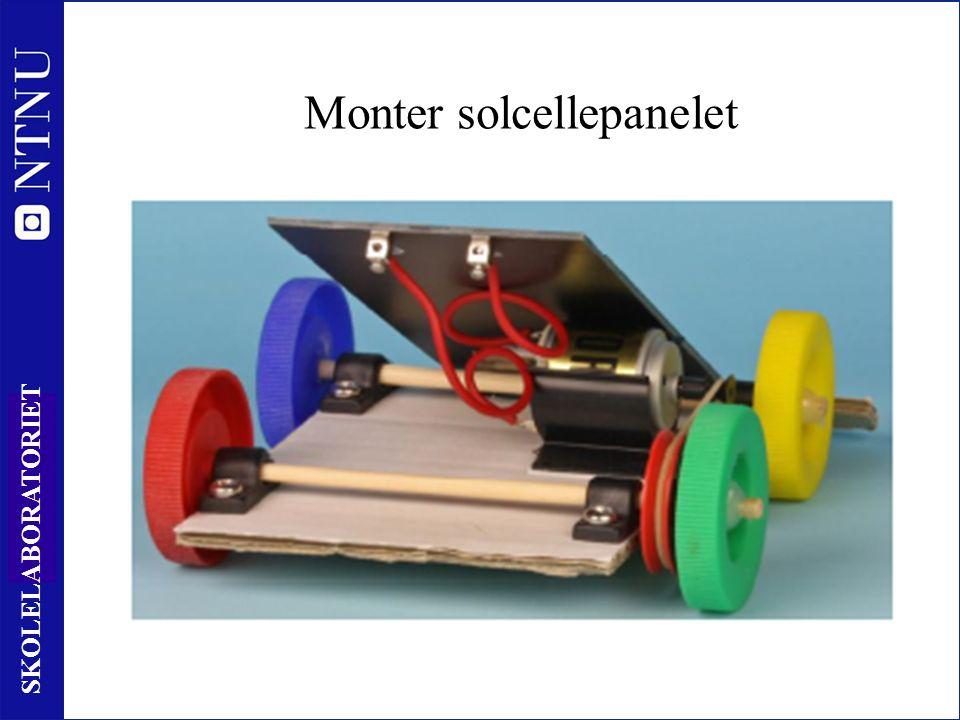 33 SKOLELABORATORIET Monter solcellepanelet