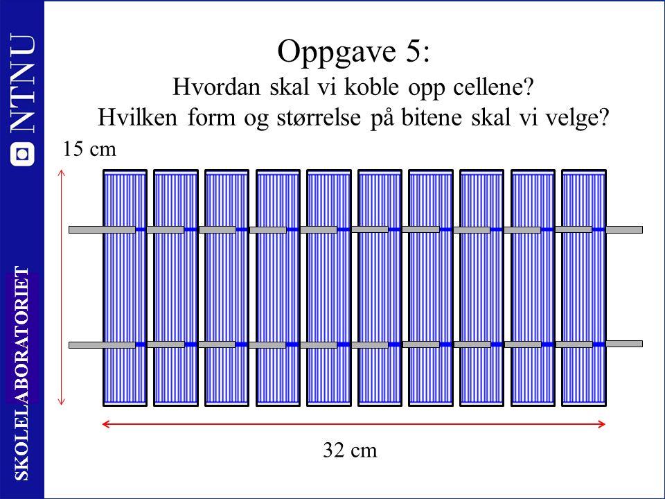 47 SKOLELABORATORIET Oppgave 5: Hvordan skal vi koble opp cellene.