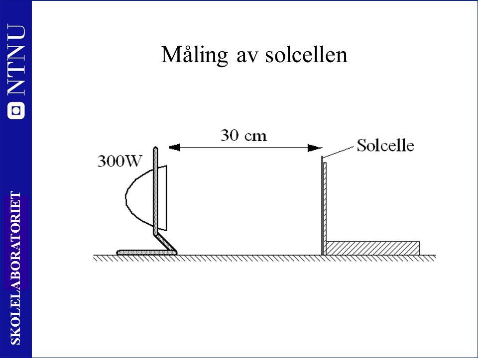 40 SKOLELABORATORIET Måling av solcellen