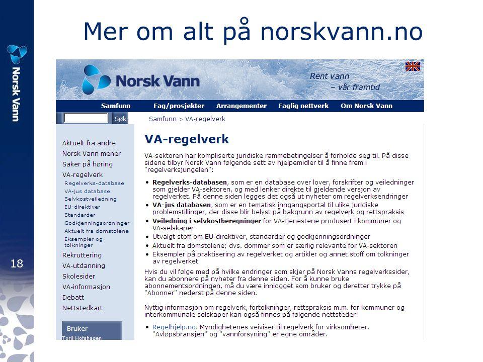 18 Mer om alt på norskvann.no