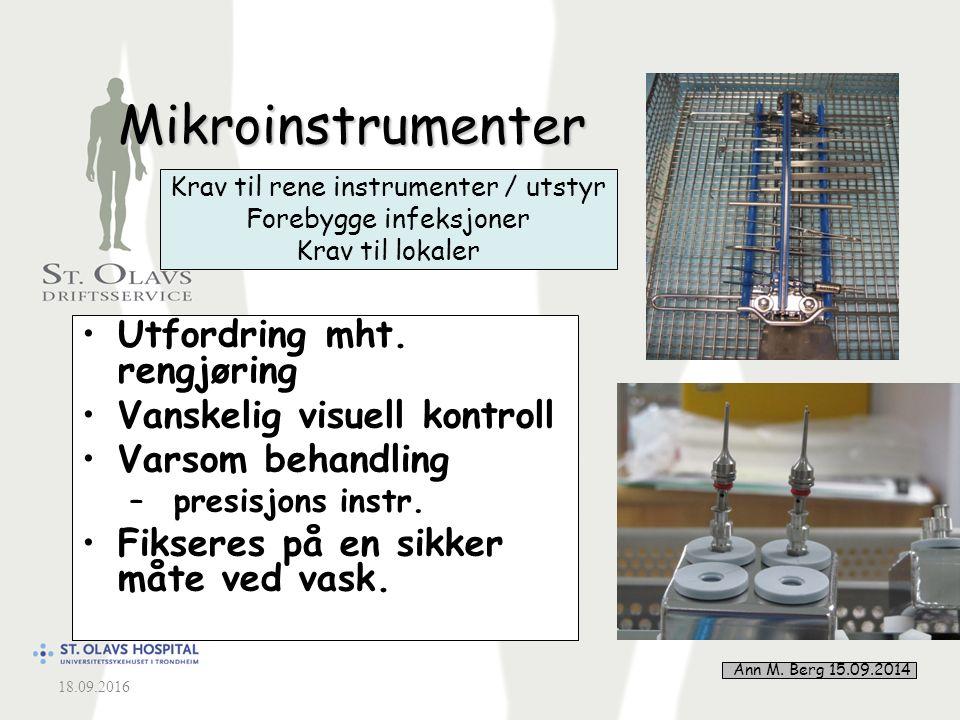 3 Mikroinstrumenter Utfordring mht.