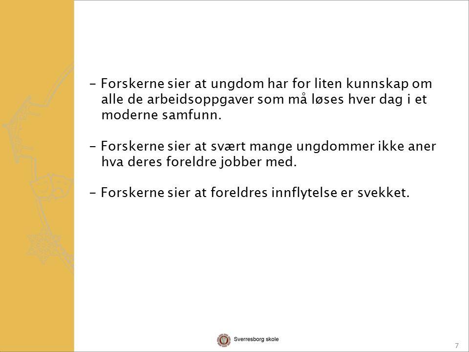 8 Nina Sandberg og Eifred Markussen, NIFU ( Norsk institutt for studier av forskning og utdanning) Trond Buland og Vidar Havn SINTEF Teknologi og samfunn Evaluering av tiltak i satsing mot frafall.