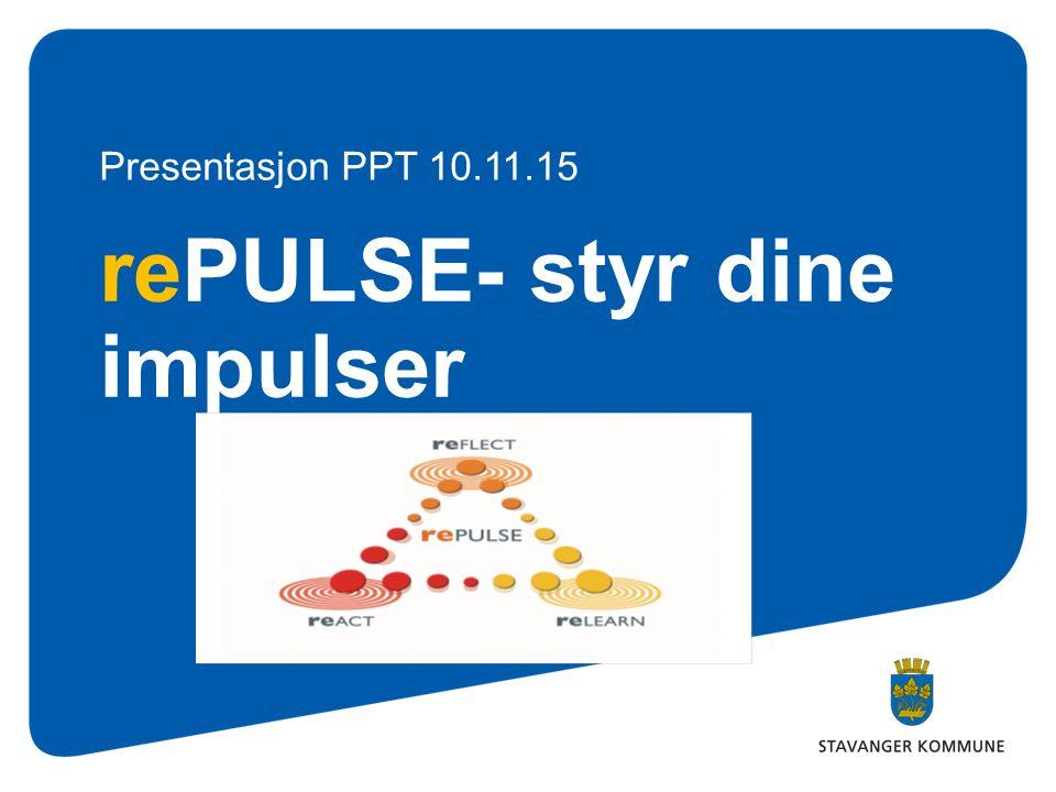 rePULSE- styr dine impulser Presentasjon PPT 10.11.15