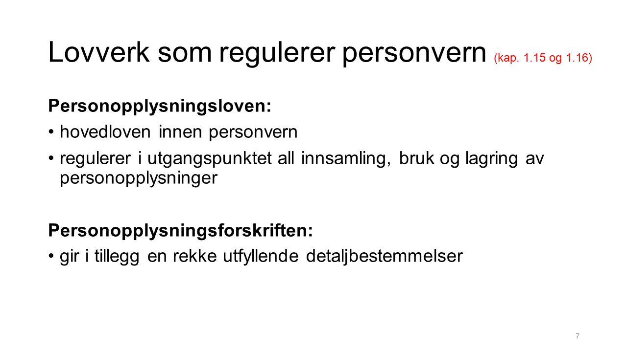 Kriterier for meldeplikt (kap.