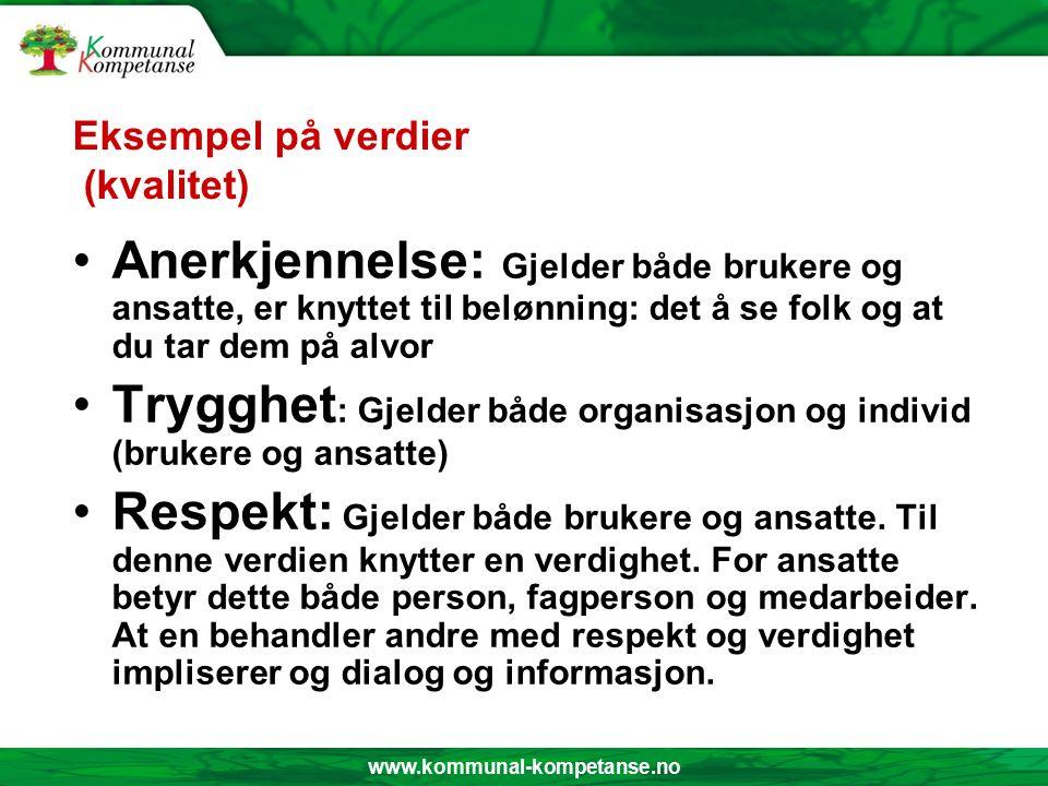 www.kommunal-kompetanse.no Verdier – 3 kategorier a) Personer, objekter.