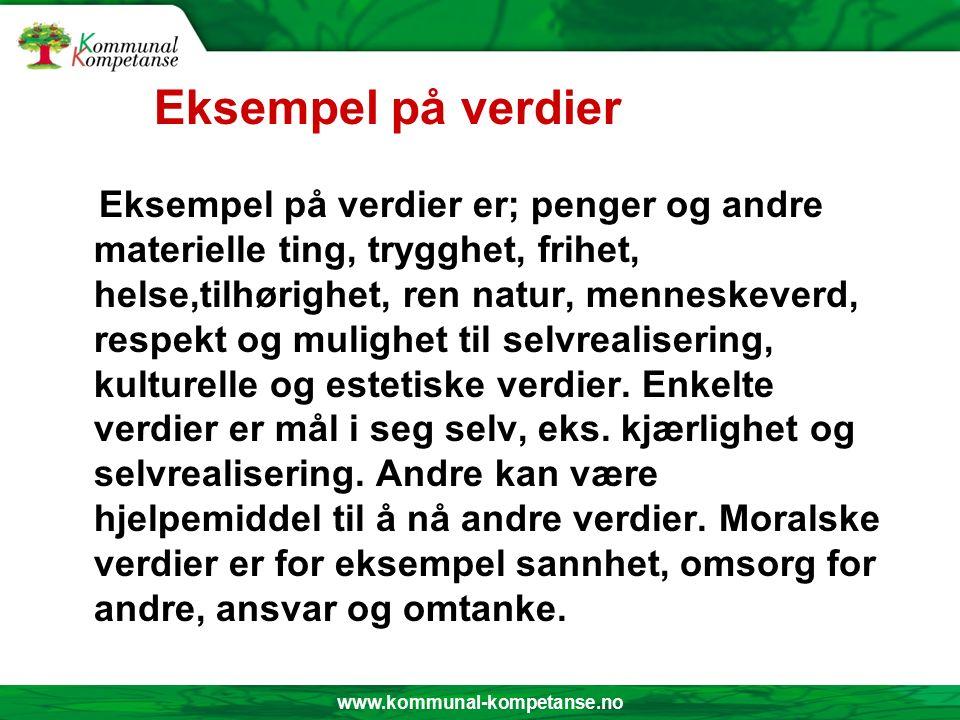 www.kommunal-kompetanse.no Holdninger, skikk og bruk Holdninger Dreier seg om oppfatninger vi har om oss selv og andre.