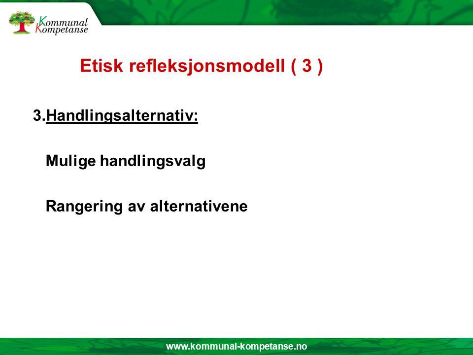 www.kommunal-kompetanse.no Etisk refleksjonsmodell ( 2 ) 2.