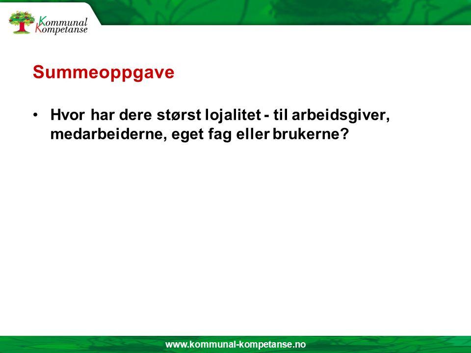 www.kommunal-kompetanse.no PÅSTAND.