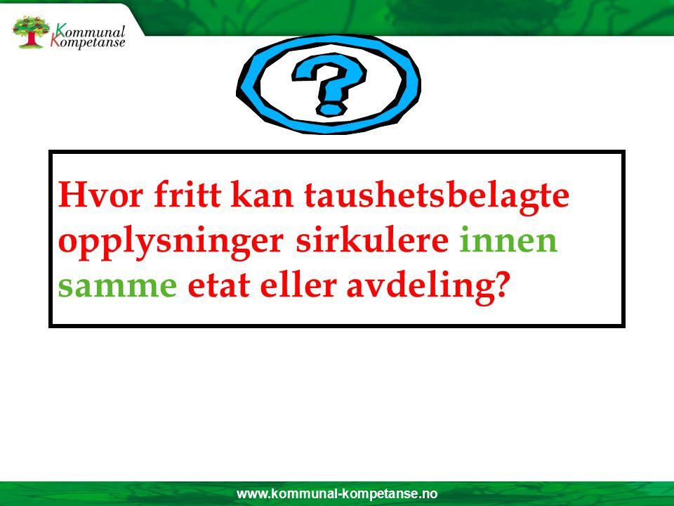 www.kommunal-kompetanse.no Opphør av taushetsplikten.