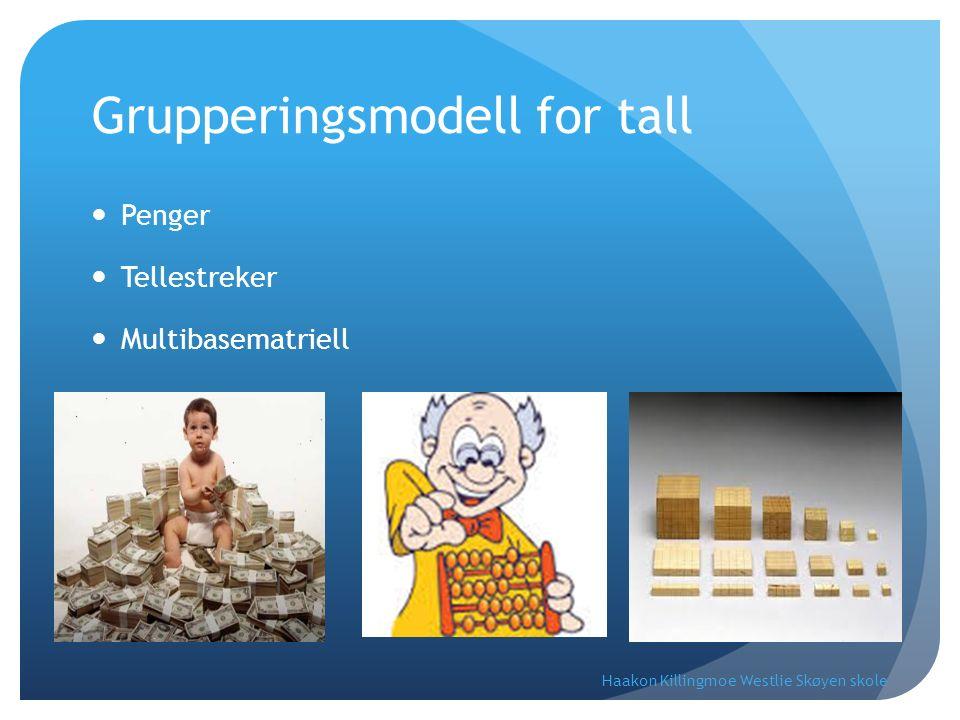 Grupperingsmodell for tall Penger Tellestreker Multibasematriell Haakon Killingmoe Westlie Skøyen skole