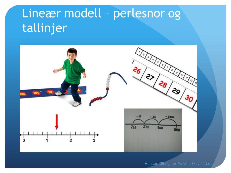 Lineær modell – perlesnor og tallinjer Haakon Killingmoe Westlie Skøyen skole