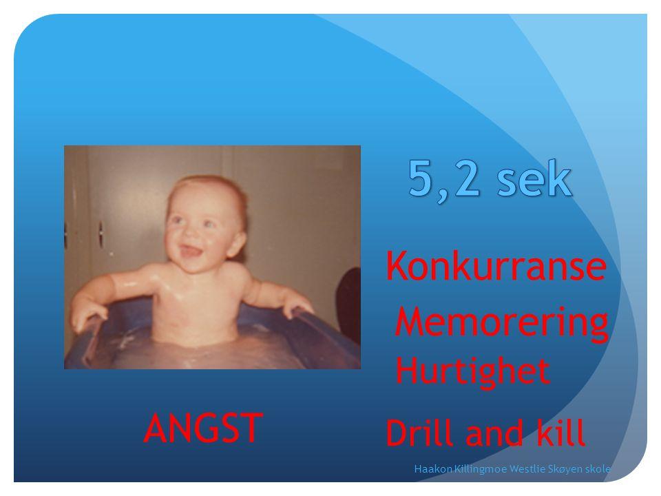 Konkurranse Memorering Hurtighet Drill and kill ANGST Haakon Killingmoe Westlie Skøyen skole