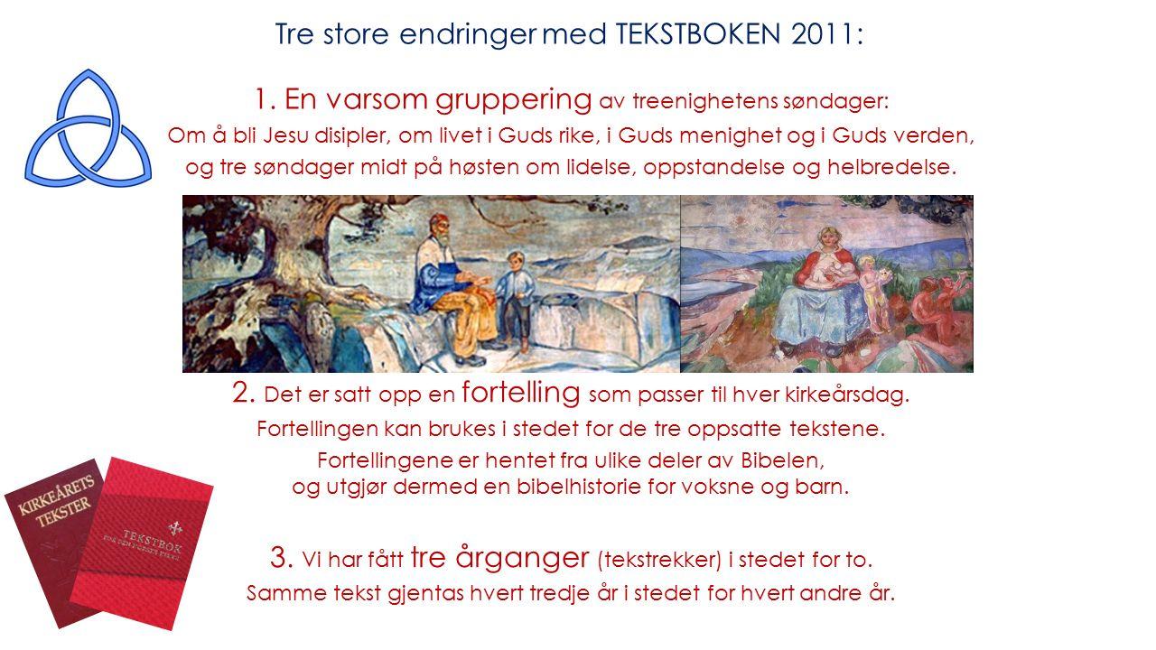 Bredde i bibelstoffet Sammenheng Utvikling Tekstlengde Høytlesning Inkluderende Fortellinger Ekumenikk Bredde i teksttema 6.