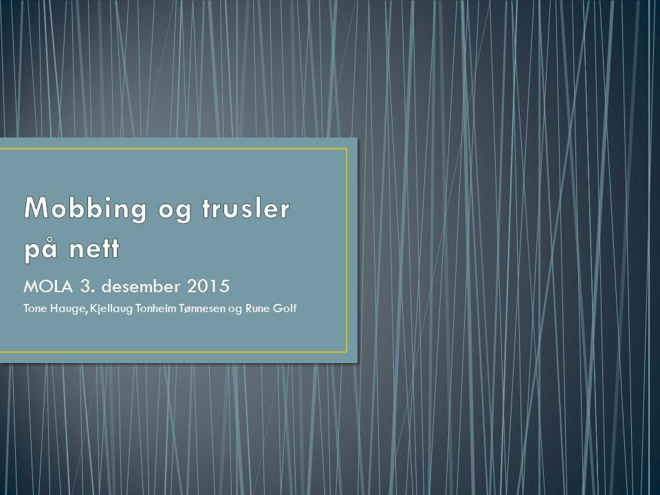 MOLA 3. desember 2015 Tone Hauge, Kjellaug Tonheim Tønnesen og Rune Golf