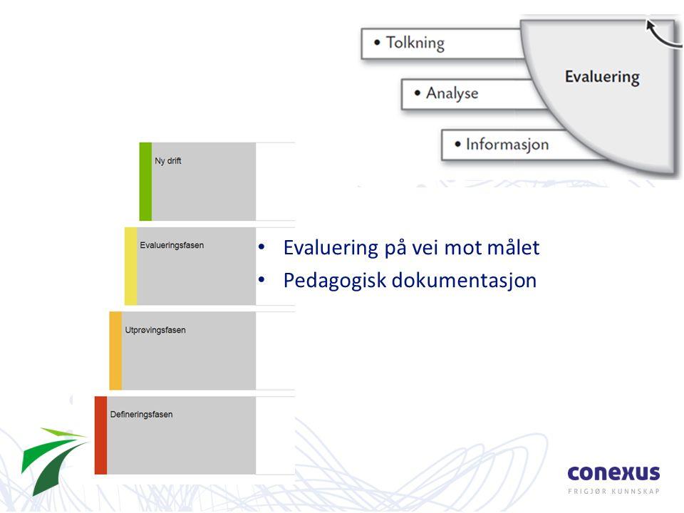 Evaluering på vei mot målet Pedagogisk dokumentasjon
