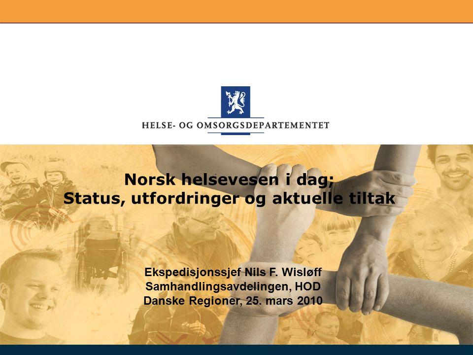 2 Disposisjon Norsk helsevesen vs Norden for øvrig Våre utfordringer Hva skjer