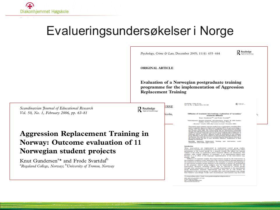 Evalueringsundersøkelser i Norge