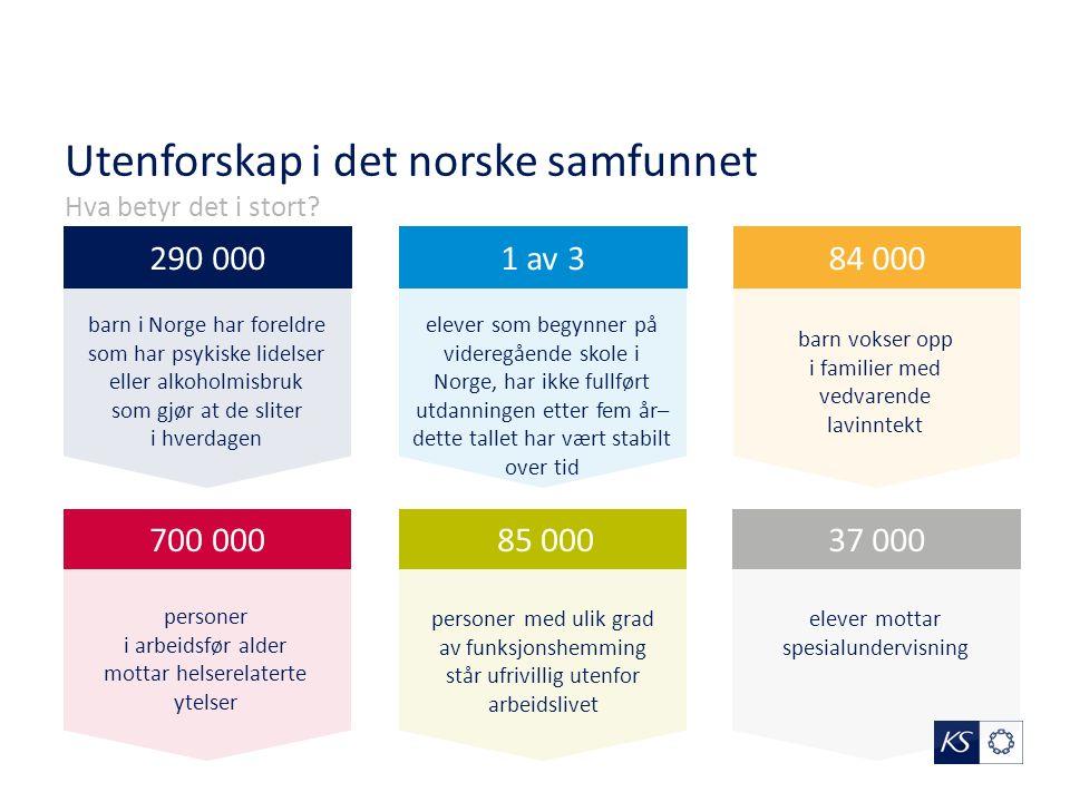 Utenforskap i det norske samfunnet Hva betyr det i stort.
