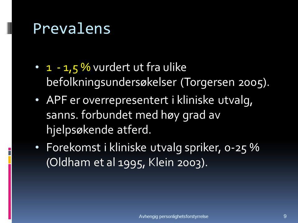 Prevalens av AVPF i Norge Pas.