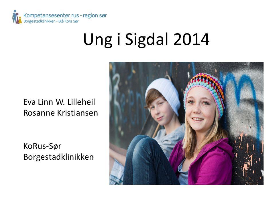 Ung i Sigdal 2014 Eva Linn W. Lilleheil Rosanne Kristiansen KoRus-Sør Borgestadklinikken