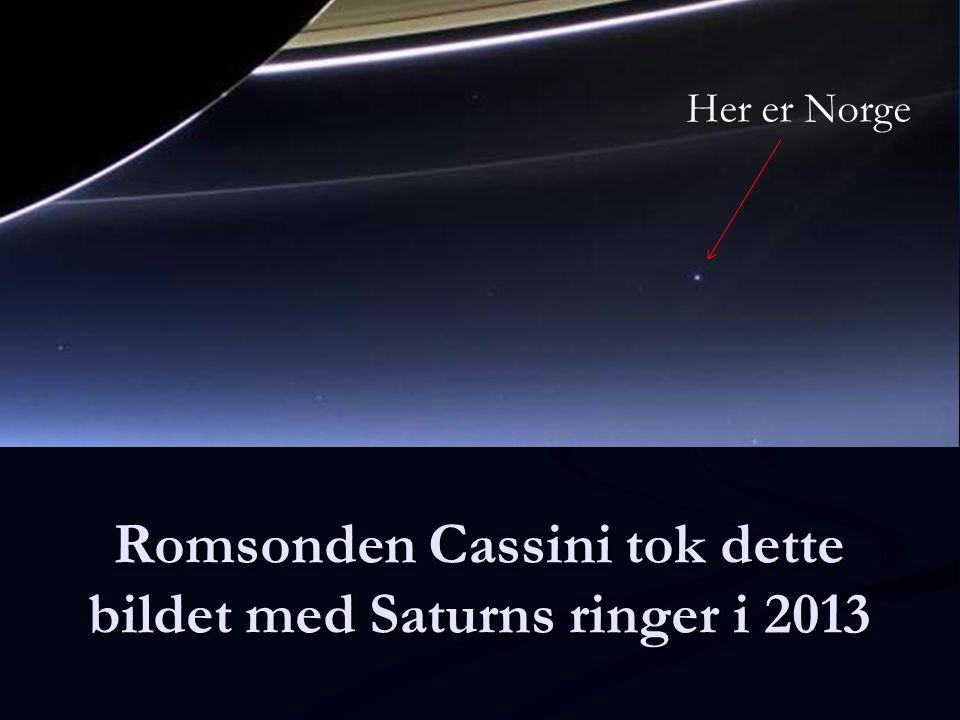 Romsonden Cassini tok dette bildet med Saturns ringer i 2013 Her er Norge