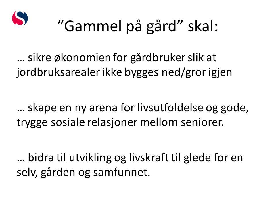 Rammen rundt det gode liv Blakstad Hovedgård er et pilotprosjekt som skal tilrettelegge for seniorer og gårdbrukere som ønsker å dele det gode liv på landet.