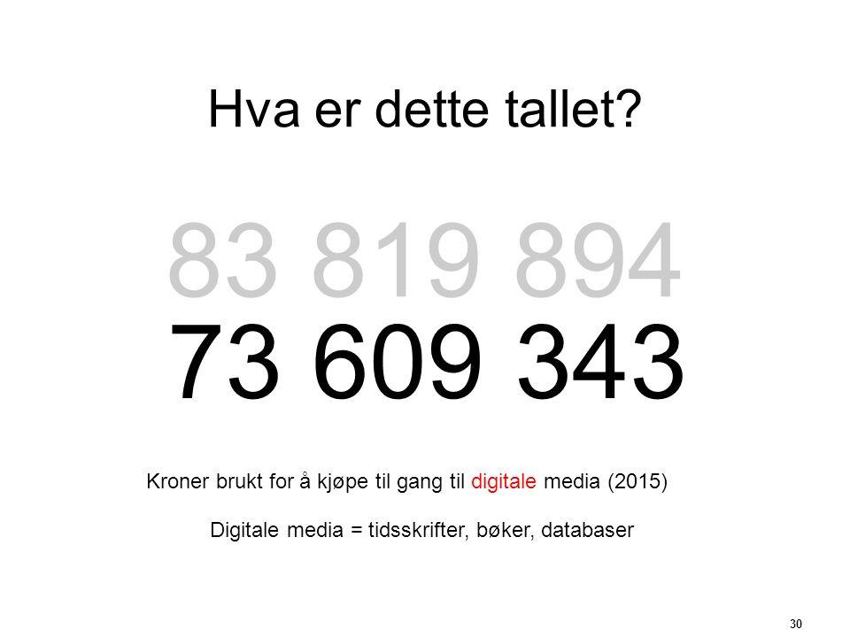 Hva er dette tallet.