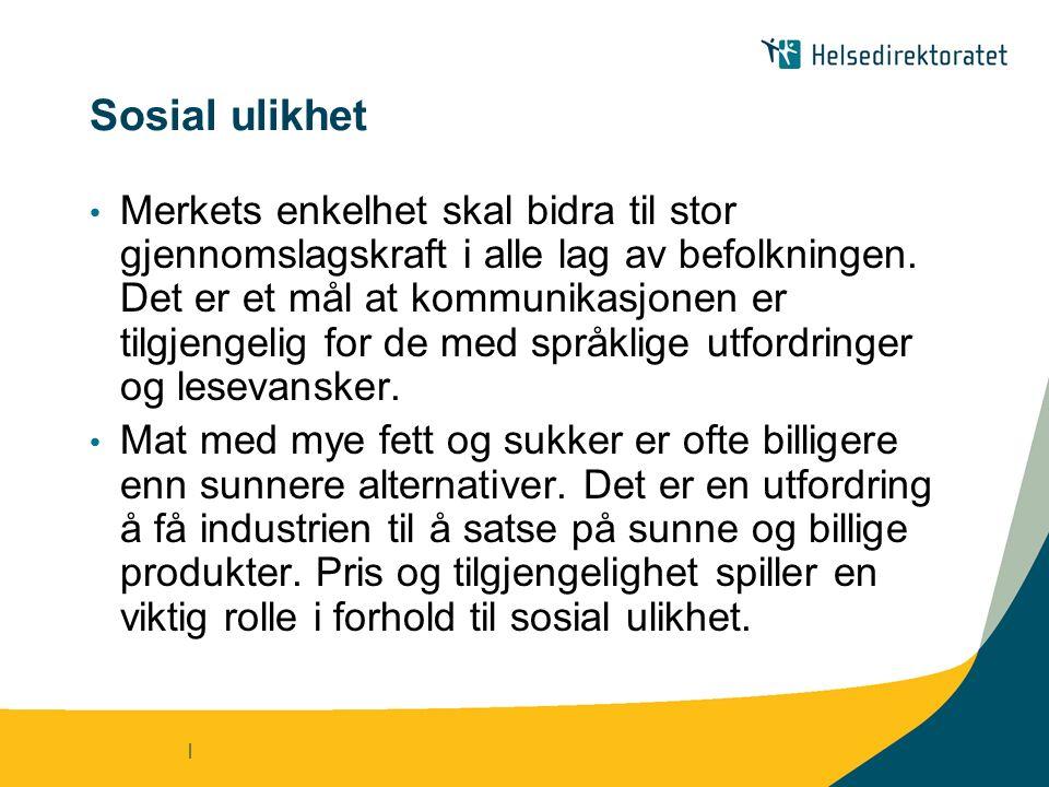 | Hovedutfordringer 1.Å få produsenter til å bruke merket – riktig i Norge, Sverige og Danmark 2.