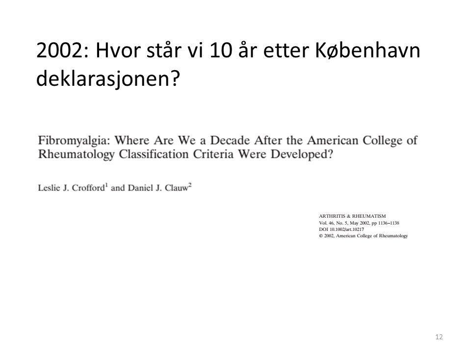 2002: Hvor står vi 10 år etter København deklarasjonen 12