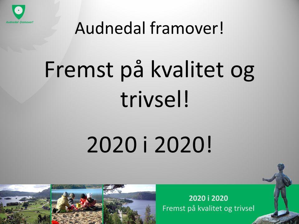 Audnedal framover! Fremst på kvalitet og trivsel! 2020 i 2020!