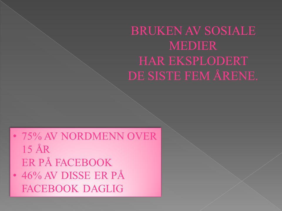 BRUKEN AV SOSIALE MEDIER HAR EKSPLODERT DE SISTE FEM ÅRENE.