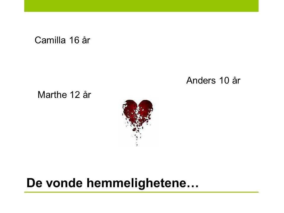 Camilla 16 år Marthe 12 år Anders 10 år De vonde hemmelighetene…