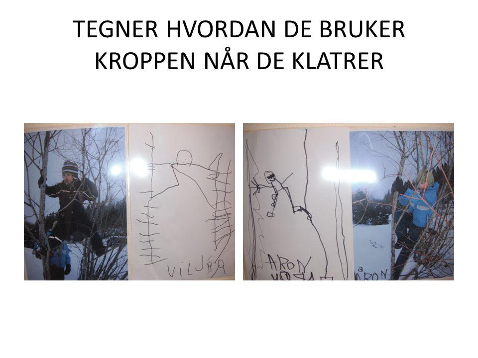 TEGNER HVORDAN DE BRUKER KROPPEN NÅR DE KLATRER