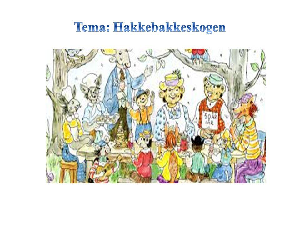 Vi synger, danser og kler oss ut (Barna får lage de ulike dyrene i Hakkebakkeskogen ved bruk av ulike formingsmateriale, tekstiler etc.) Vi lager kanskje karnevals antrekk eller klær til Bamsens store fødselsdag og har fest for Bamsen Vi leker og dramatiserer ulike sekvenser/scener fra Hakkebakkeskogen (I frie og mer organiserte aktiviteter) Barna får tilgang på kostymer i lek og utforskning.