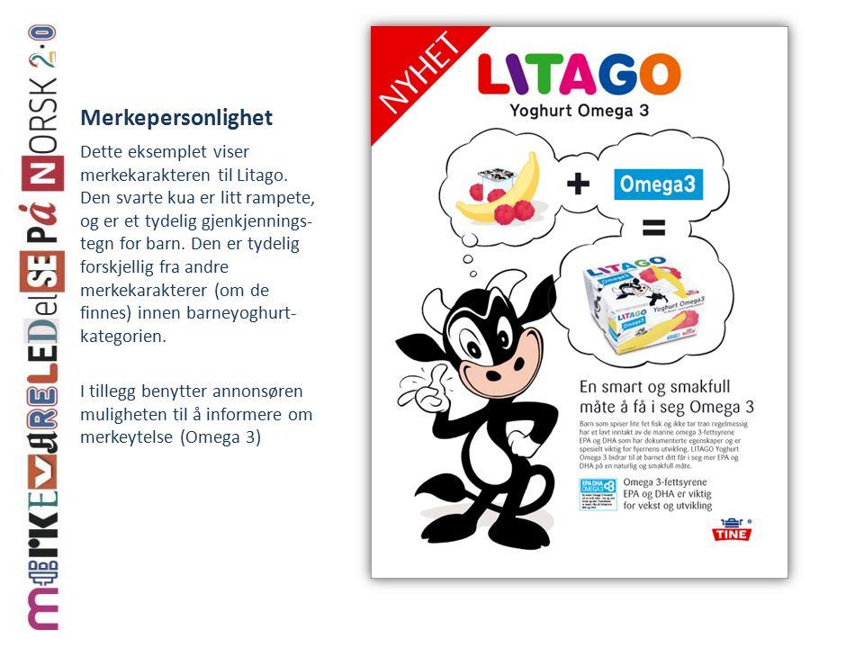 Merkepersonlighet Dette eksemplet viser merkekarakteren til Litago.