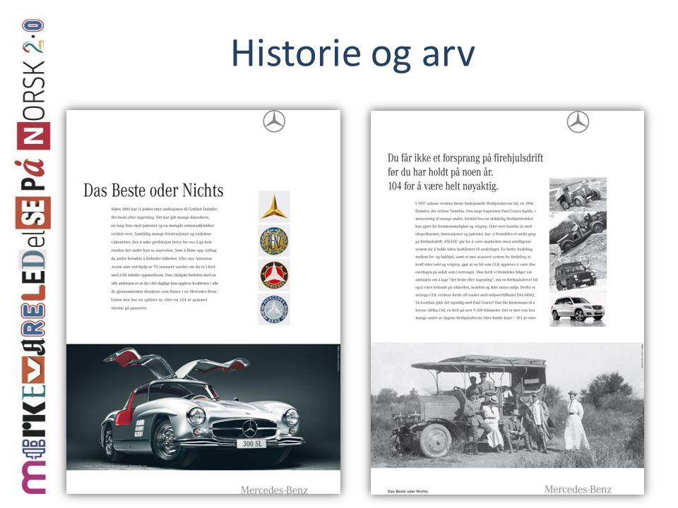 Historie og arv
