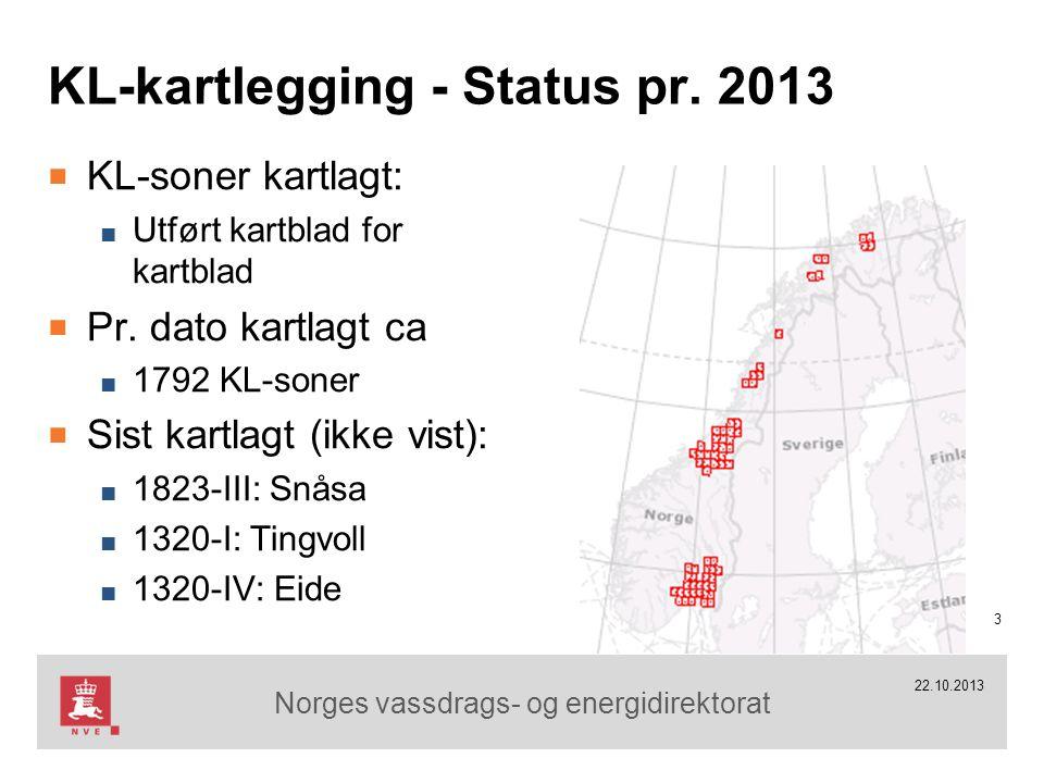 Norges vassdrags- og energidirektorat 22.10.2013 14 Ny teknologi for KL-kartlegging Strandsonekartlegging 100 m Definisjon av strandsonen Ill.